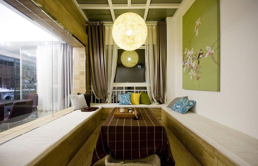清新休闲混搭家装茶室设计装潢效果图