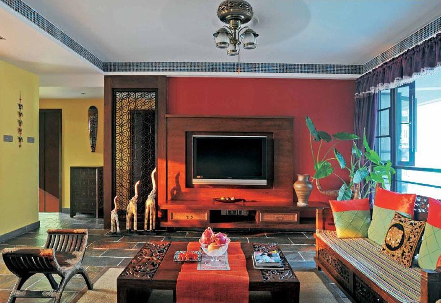 120平米三居室美式复古农村风格房屋装修效果图