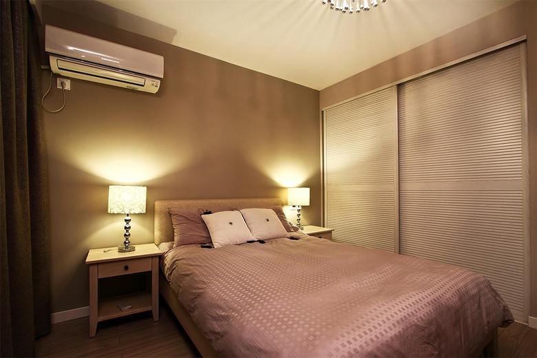 温馨简约现代风卧室效果图