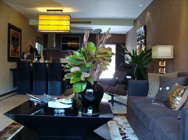 120平时尚现代三室两厅设计装潢效果图