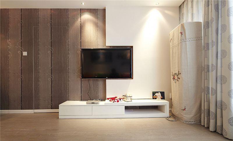 时尚现代简约电视背景墙家装效果图