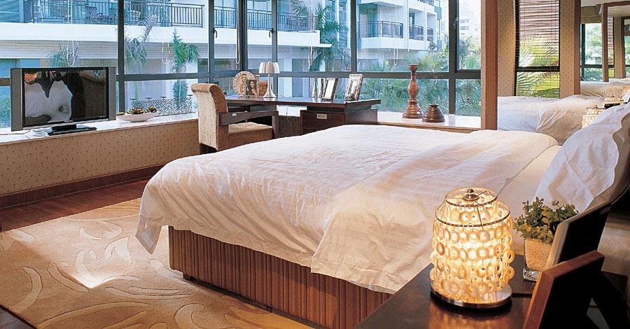 简约现代设计通透卧室窗户效果图