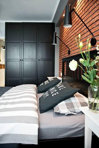 工业风北欧风格卧室壁灯设计装修效果图