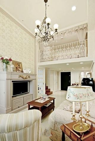 48平纯白简欧小户型复式家装效果图