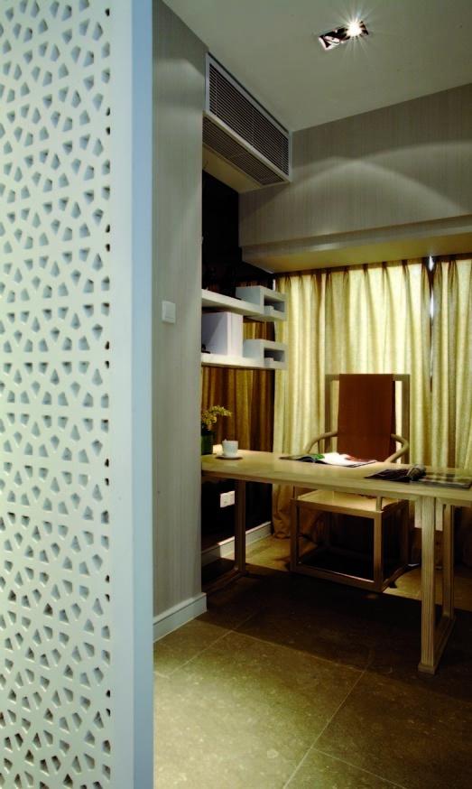 简中式时尚小书房设计装修效果图