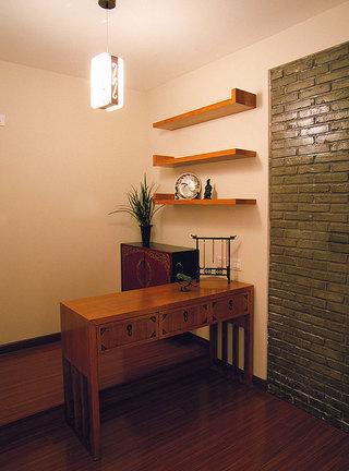 竹林生态中式风格书房效果图欣赏