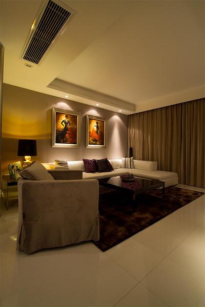 低奢现代欧式客厅背景墙效果图