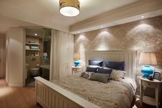 时尚现代美式风格主卧室带卫生间效果图