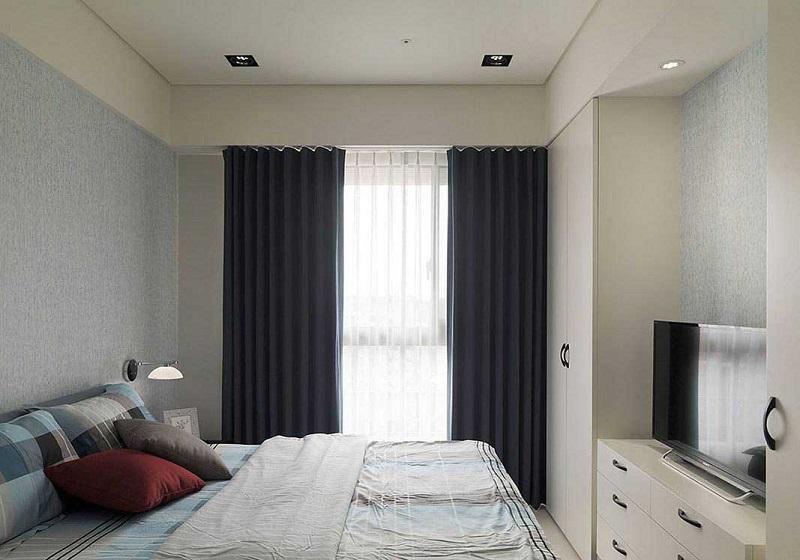 安静祥和简约现代卧室窗户装饰效果图