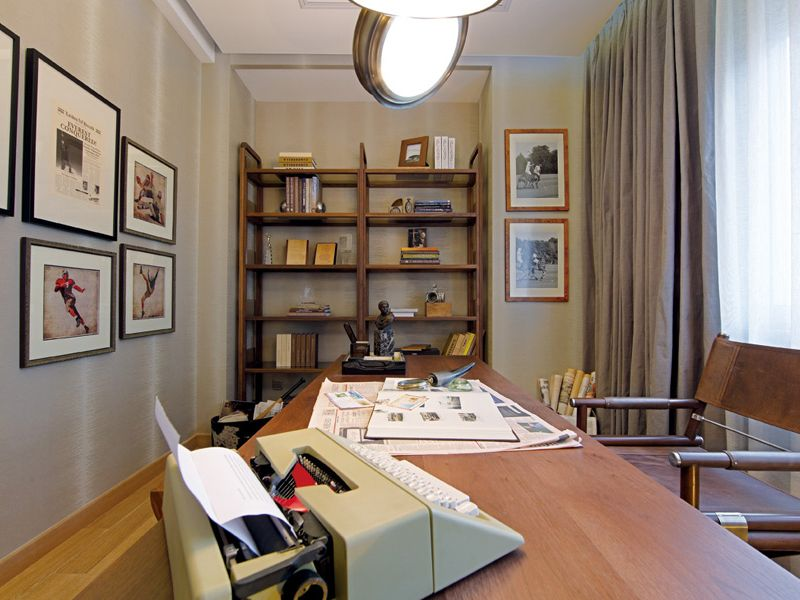 现代时尚设计室内书房简易书架效果图