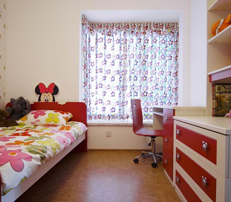 现代家居女宝宝儿童房设计装饰效果图