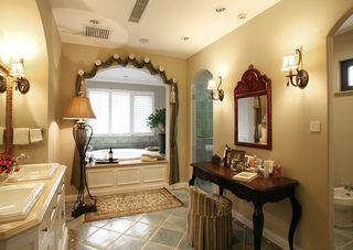 唯美浪漫欧美风浴室拱形门效果图