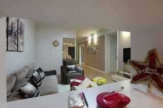 现代新中式混搭风格客厅效果图