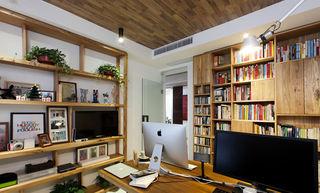 北欧风格室内书房实木吊顶装修设计效果图图片