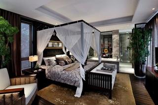 时尚中国风卧室效果图