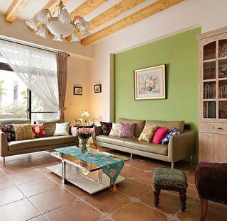 田园风格室内客厅设计效果图片