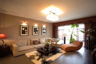 现代美式风格装修三居室家居效果图