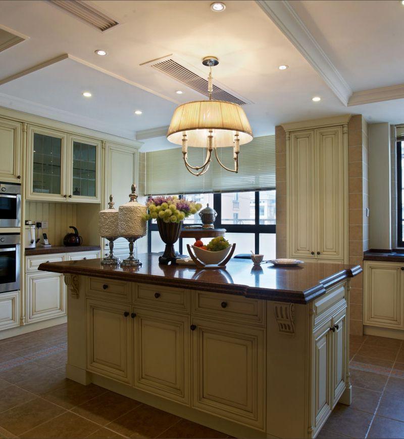 高雅和谐新古典复式厨房吧台设计欣赏图