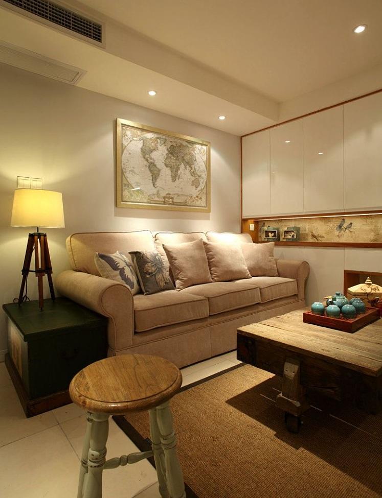 舒适简约北欧风客厅沙发背景墙图片