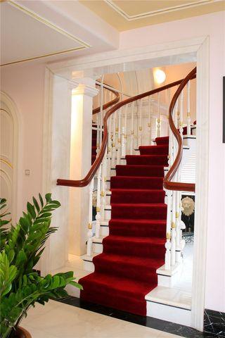 欧式现代风格别墅楼梯装饰效果图