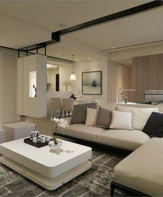 现代简约三居室客厅装修设计欣赏图