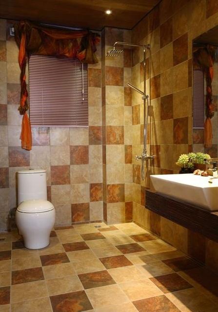 色彩斑斓东南亚风设计卫生间装修图片