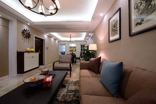 8-10万混搭美式三室两厅设计装修案例图