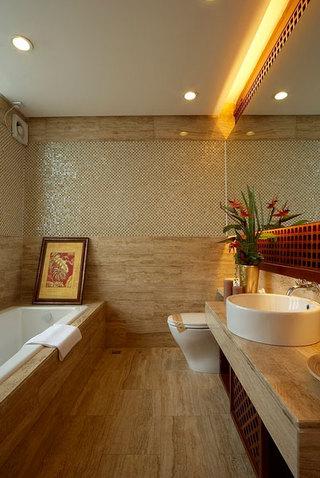 现代风格别墅室内卫生间整体装潢效果图