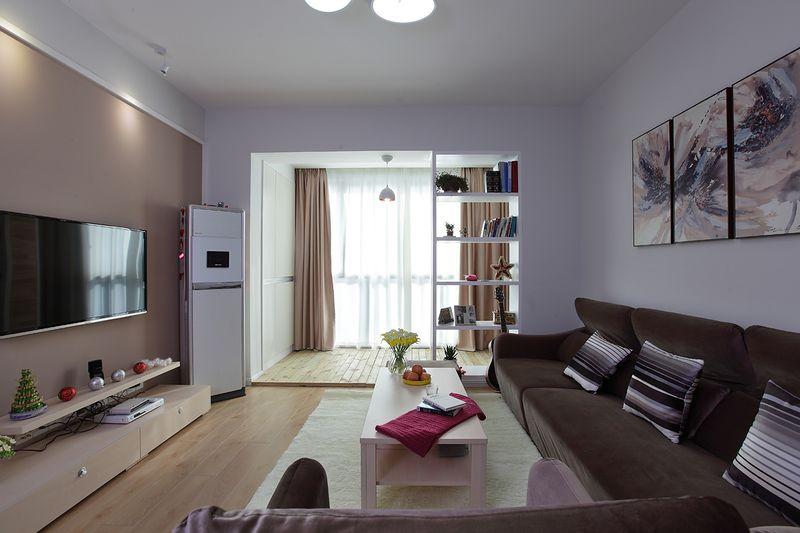 现代新中式混搭客厅效果图