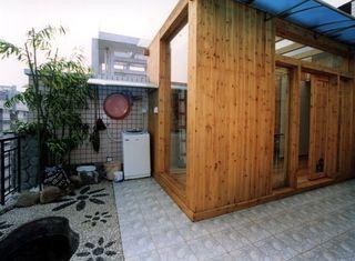 动感娱乐现代顶楼阳光木质房设计装潢效果图