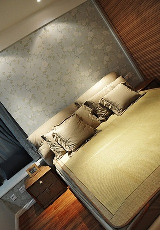 创意简约中式风格卧室装饰效果图