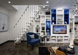 炫酷现代多功能客厅背景墙效果图