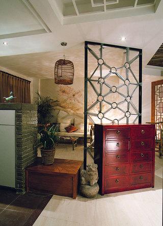 仿古新中式红木隔断设计欣赏图