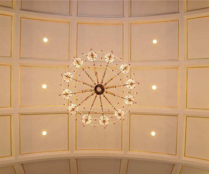 欧式现代风格别墅室内吊顶装潢欣赏图
