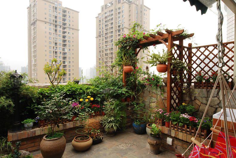 动感娱乐现代顶楼花园设计效果图
