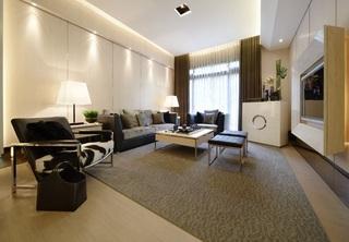 现代简约风格设计三居客厅装修案例图片