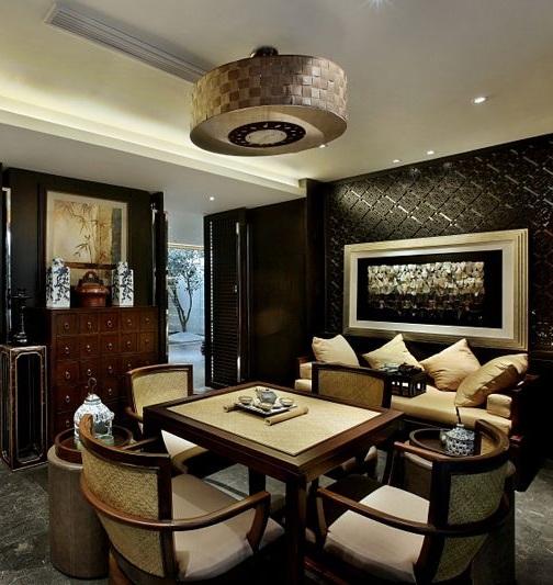 典雅中式家居茶室效果图