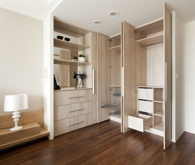 现代宜家卧室整体衣柜效果图
