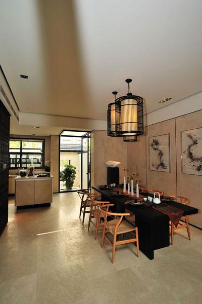 新中式禅风餐厅设计装饰效果图