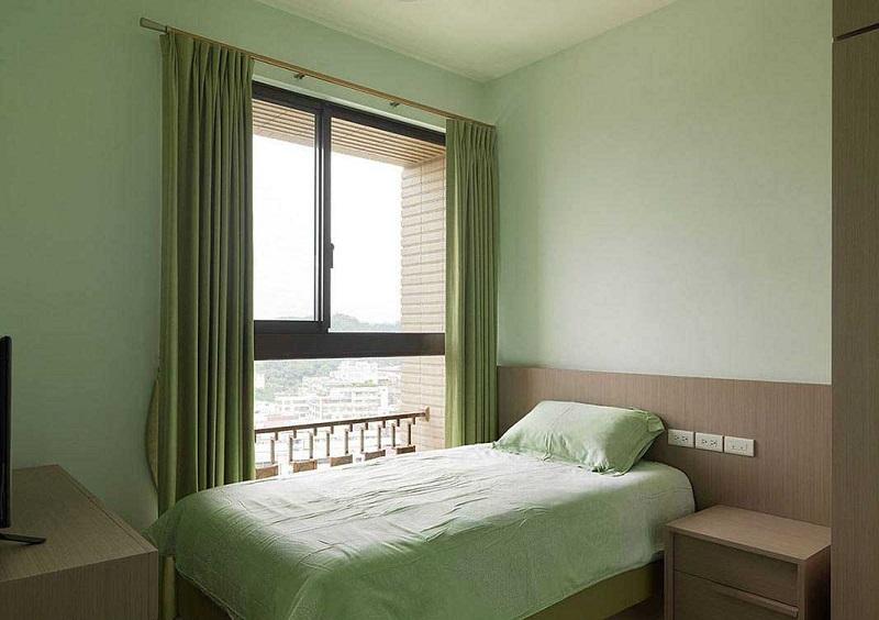 安静祥和绿色小清新简约儿童房软装效果图