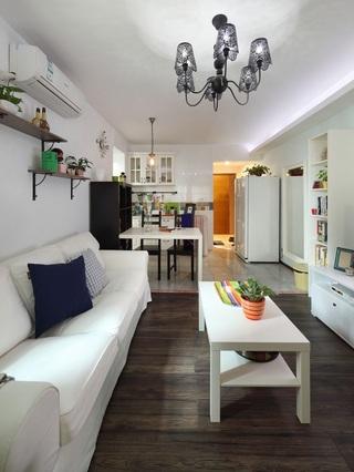 10万打造简约温馨两居室设计装修案例图
