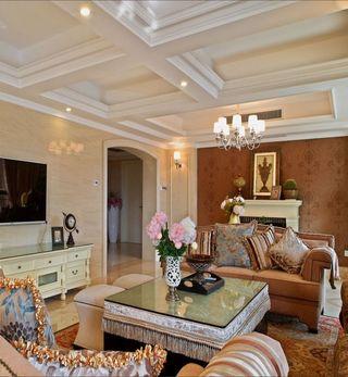 高雅和谐新古典复式客厅设计装饰案例图