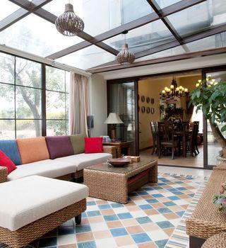 通透明亮最新现代家居阳光房装修案例图