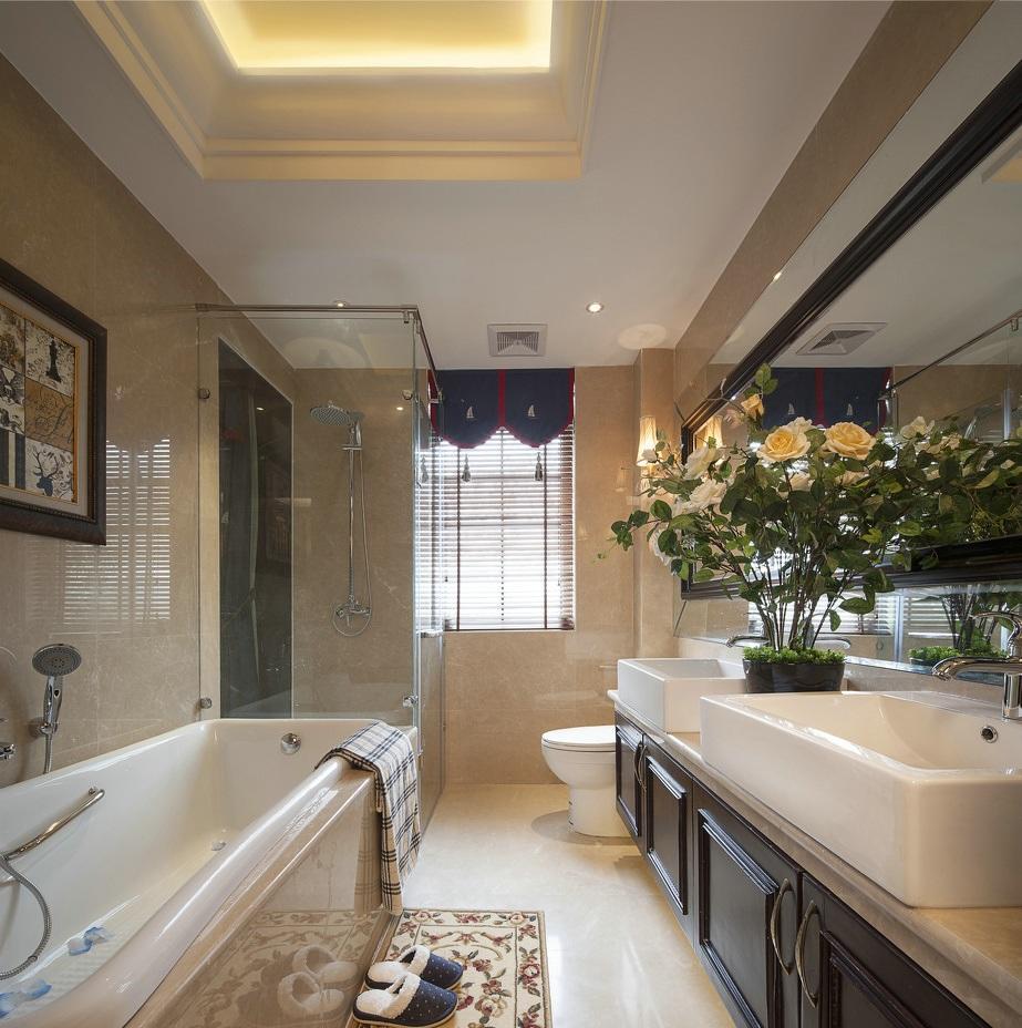 浪漫古典豪华欧式卫生间装饰效果图
