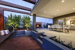 现代时尚大气别墅休闲区域效果图