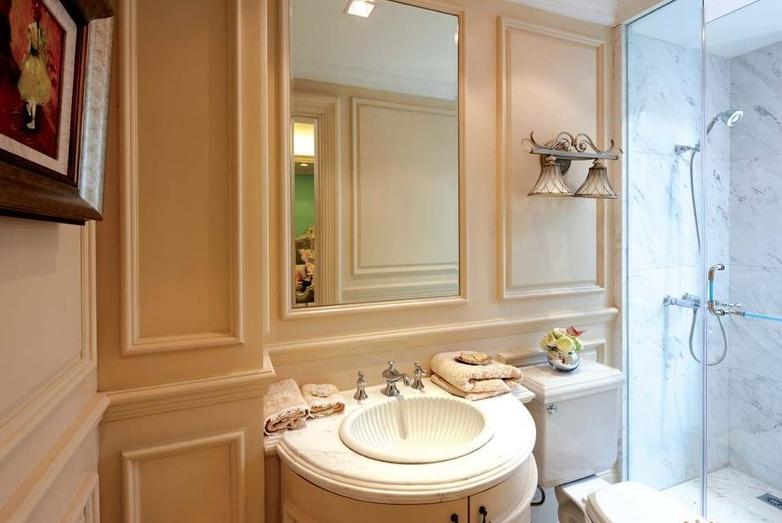 舒适简约欧式洗手间背景墙图片