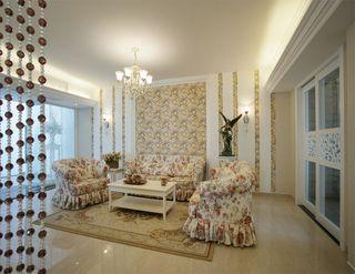 清爽简约田园风格公寓客厅设计装饰效果图