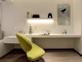 清绿简约书房书桌椅设计效果图