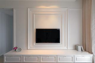 纯白浪漫简欧风格电视背景墙效果图
