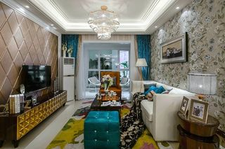 16万打造130平美式新古典炫彩空间